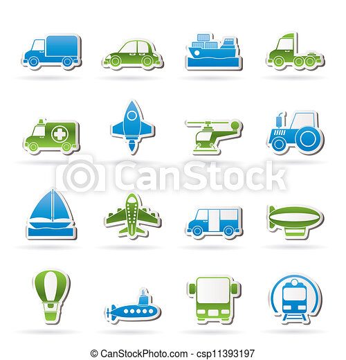 transportation icons - csp11393197