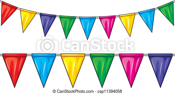 Clipart Vector Of Party Flags Party Pennant Bunting