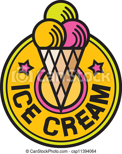 ice cream label (ice cream icon) - csp11394064