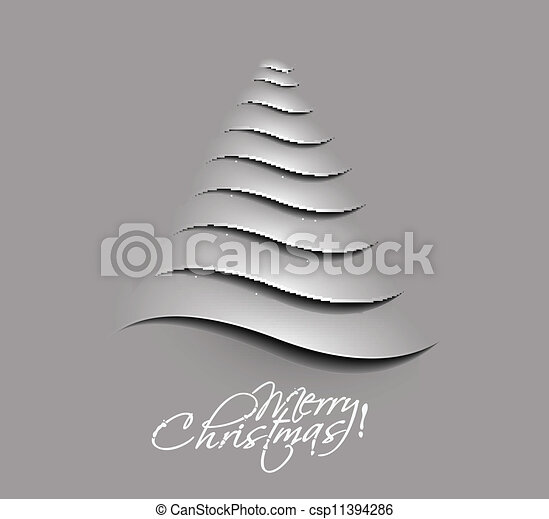 merry christmas tree design - csp11394286
