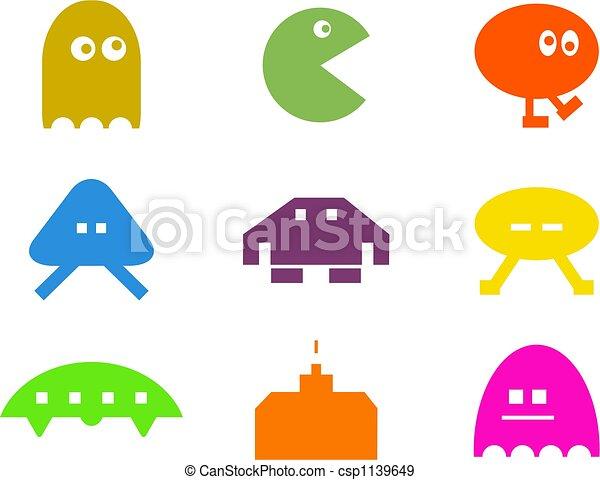 retro gaming shapes - csp1139649