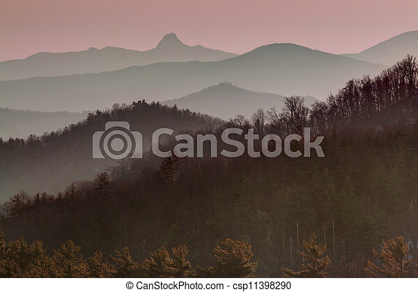 Blue Ridge Mountain Profile at Suns - csp11398290