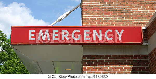 Emergency Sign - csp1139830