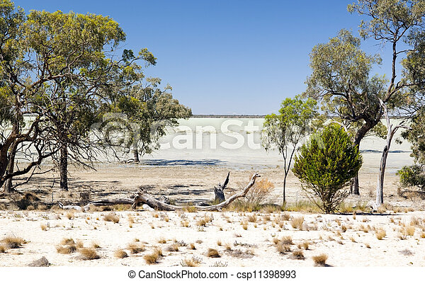 Outback Lake - csp11398993