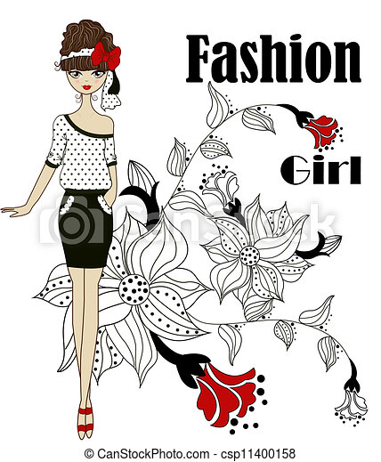 Fashionable girl - csp11400158