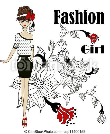 Fashionable girl - csp11400158