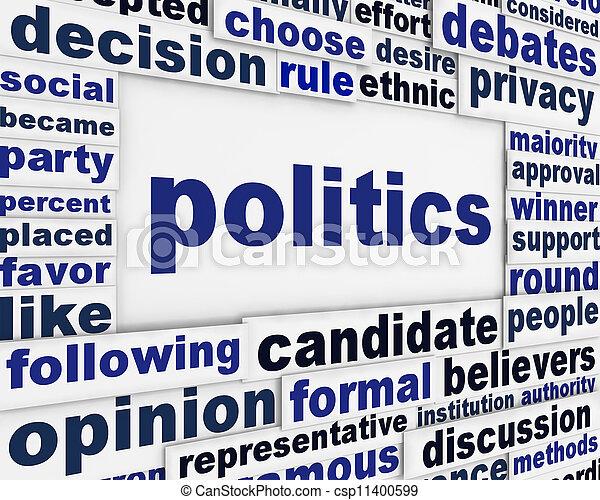 Politics poster design - csp11400599