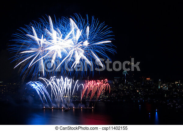 4th of July Fireworks in Boston - csp11402155