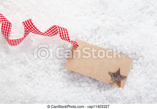 Empty place card or gift card