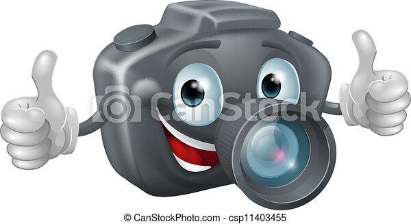 vecteur clipart de appareil photo dessin anim mascotte a heureux dessin csp11403455. Black Bedroom Furniture Sets. Home Design Ideas