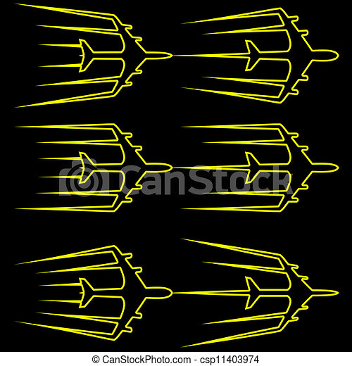Illustrations vectoris es de illustration avion ligne voler stylis vecteur avion - Dessin avion stylise ...