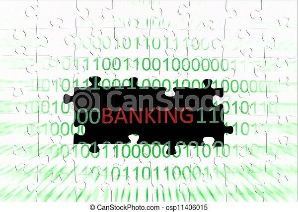 Banking puzzle concept - csp11406015