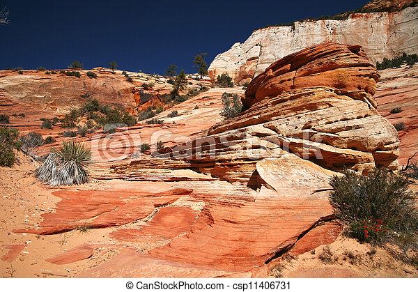 Zion National Park, Utah, USA - csp11406731