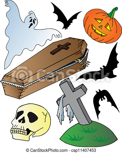 Halloween theme collection - csp11407453