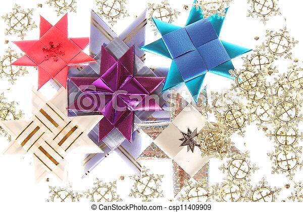 photo origami toiles flocon de neige guirlande image images photo libre de droits. Black Bedroom Furniture Sets. Home Design Ideas