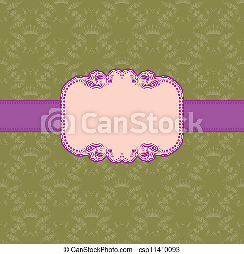 Template frame design for greeting card . - csp11410093