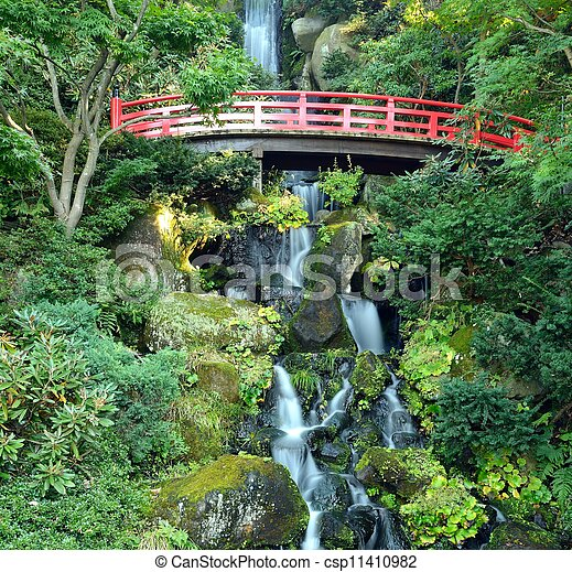 Japanese Waterfall - csp11410982