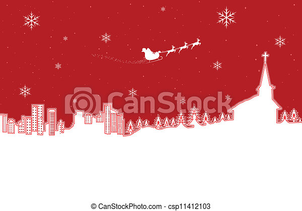 Natale, paesaggio - csp11412103