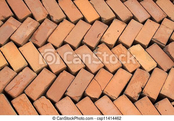 red bricks - building materials in rural China