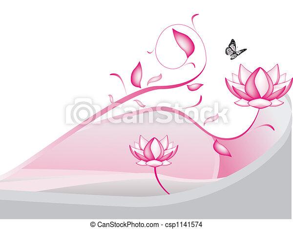 dessin de lotus fleurs csp1141574 recherchez des illustrations clip art et des images. Black Bedroom Furniture Sets. Home Design Ideas