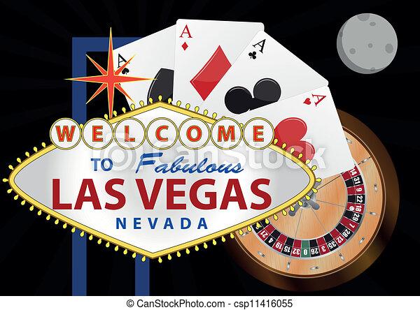 Vegas Logo Vector Vector Las Vegas Night