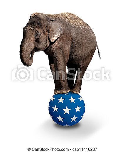 Balancing Elephant - csp11416287