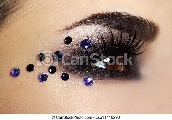 Eye with black fashion make-up - csp11416290