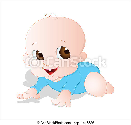 Vectores de bebé, vector, Gatear - creativo, conceptual, diseño ...