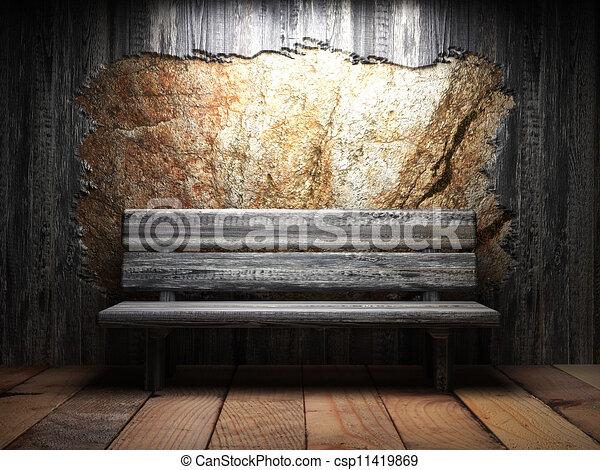 illustration de bois mur vieux banc vieux bois mur et banc csp11419869 recherchez des. Black Bedroom Furniture Sets. Home Design Ideas