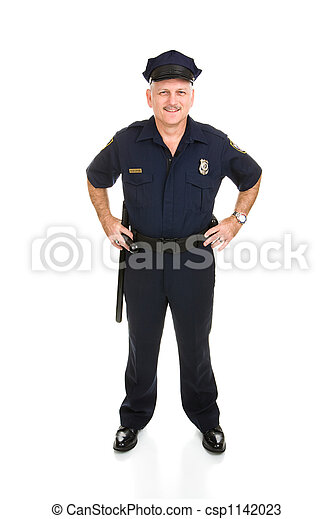 Police Officer Full Body Front - csp1142023
