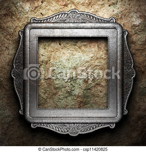 Antique ornament frame - csp11420825