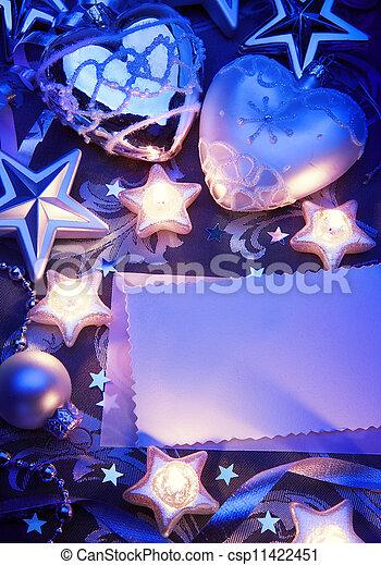 Art Christmas greeting card - csp11422451