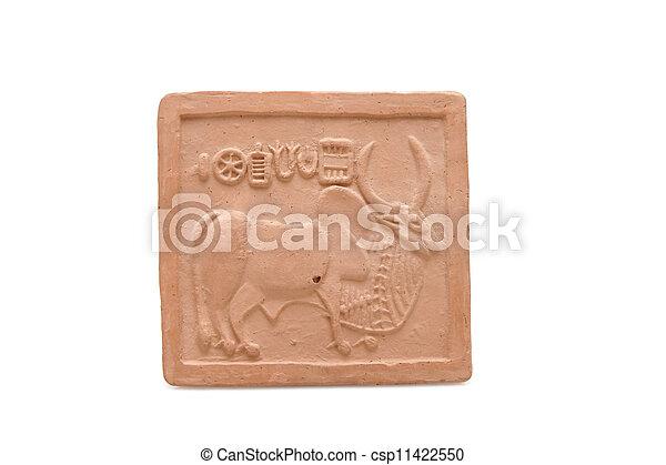 antiguo, pictografía, indus, Valle, civilización - csp11422550