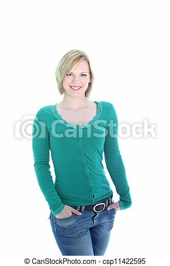 Sexy young blonde woman - csp11422595