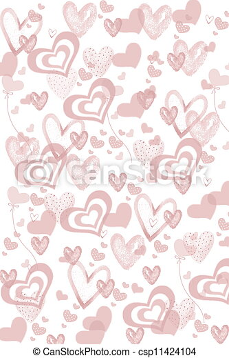 Valentine's day hearts - csp11424104