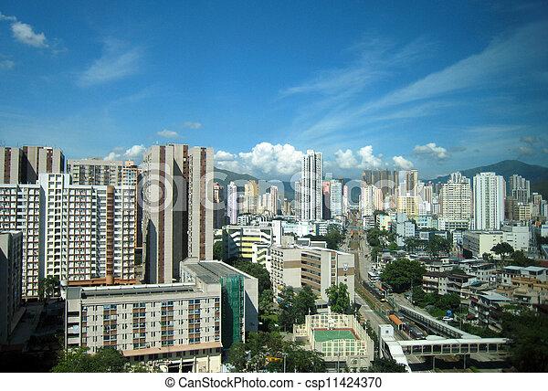 Hong Kong Residential - csp11424370