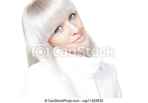 Beautiful winter blonde - csp11424833