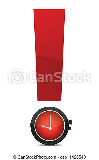 exclamation and watch illustration - csp11426540