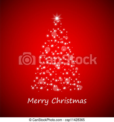 Christmas tree from stars - csp11428365