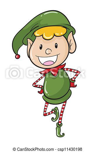 a boy in green joker dress - csp11430198