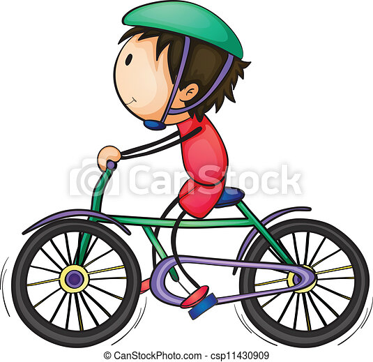 Boy and bicycle - csp11430909