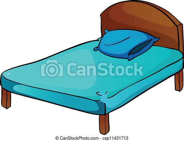 Clip art vecteur de oreiller lit illustration de lit for Letto logo