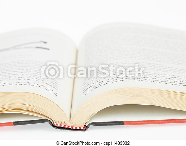 Open book closeup - csp11433332