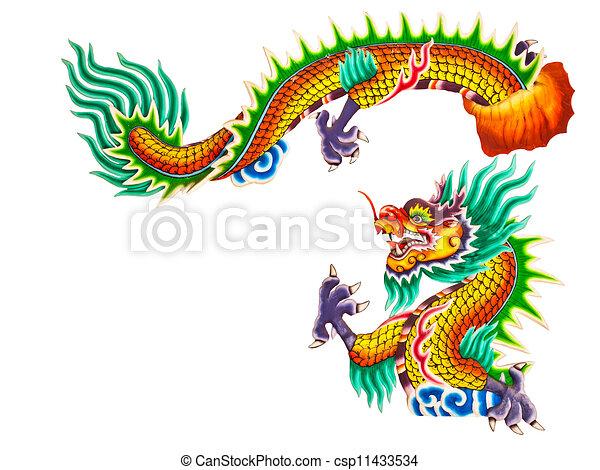 Dessins de style blanc statue chinois dragon chinois - Dessins dragons chinois ...