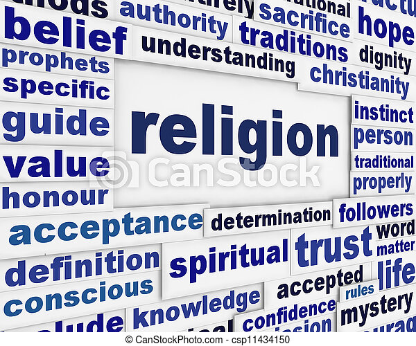 Religion message background - csp11434150