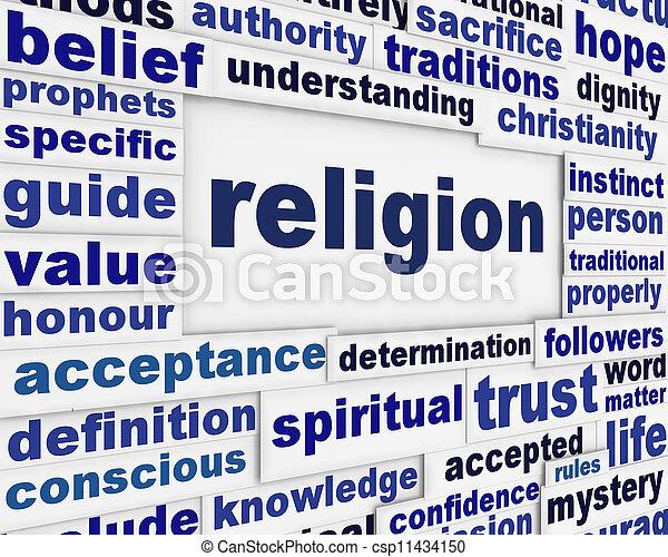 Religion message background - csp11434150