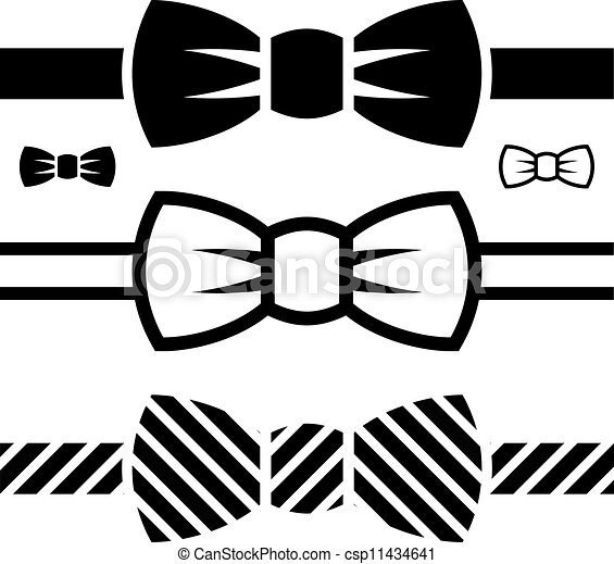 vector bow tie black symbols - csp11434641