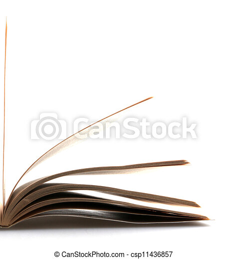 open book isolated on white background - csp11436857