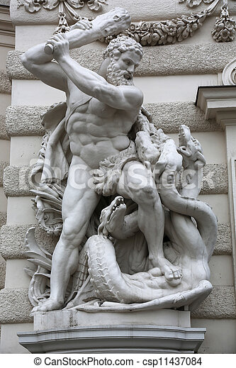 pictures of hercules destroying the hydra the sculpture