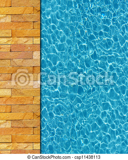 Clipart of cool water in swimming pool background for Pool design graphic